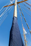 Main mast pole on tall ship Royalty Free Stock Image