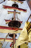 The main mast of a sailing ship. Stock Photography
