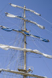 Main mast with sails collected Stock Photos