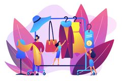 Fashion house concept vector illustration. royalty free illustration