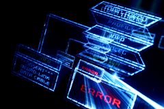 Main menu error Stock Image