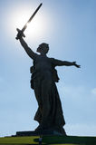 The main monument - Motherland calls is situated on the top of t Stock Photography