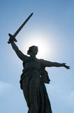 The main monument - Motherland calls is situated on the top of t Royalty Free Stock Image