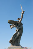 The main monument - Motherland calls is situated on the top of t Royalty Free Stock Images
