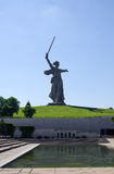 The main monument - Motherland calls is situated on the top of t Stock Photo