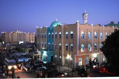 The main mosque of Hargeisa in the evening. Royalty Free Stock Photos