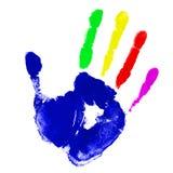Main multicolore photographie stock libre de droits