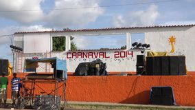 Main Music Stage at a Cuban Carnival Stock Photography