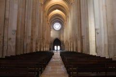 Main Nave in Alcobaça Monastery Royalty Free Stock Photos