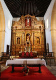 Main nave and altar in  Cathedral Church of Saint Mary of Betancuria in Fuerteventura Stock Photography
