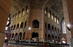Main Nave Basilica of Aparecida. The huge nave of Basilica of Aparecida, Sao Paulo, Brazil Stock Image