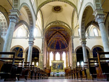 Main nave of Basilica dei Servi. Siena Stock Photography