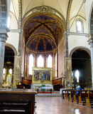 Main nave of Basilica dei Servi. Siena Stock Images