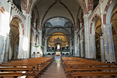 Main nave of the Basilica of Sant Ambrogio Royalty Free Stock Photos