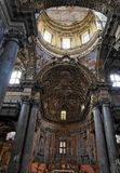 Main Nave San Giuseppe dei Teatini  Palermo Royalty Free Stock Photos