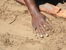 Main noire d'ouvriers Image libre de droits