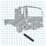 Main-noyez le croquis de camion Image stock