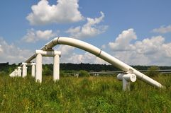 The main oil pipeline of a high pressure. Stock Images