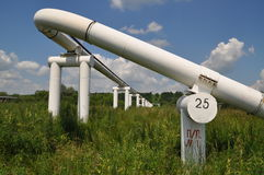 The main oil pipeline of a high pressure. Stock Photo