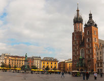 Main old market square in Krakow, Poland Royalty Free Stock Photography