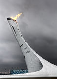 The Main Olympic Flame 2014 Royalty Free Stock Image