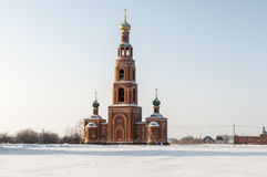 Bell tower Siberia in winter Stock Photos