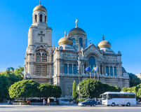 Main Orthodox Cathedral of Varna city in Bulgaria Royalty Free Stock Photo