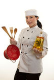 Main ou chef de cuisine Photographie stock