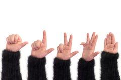Main ouverte vide comme coupée Photo libre de droits
