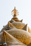 Main pagoda of Phathatpakhew temple. Petchaboon Thailand Royalty Free Stock Photo