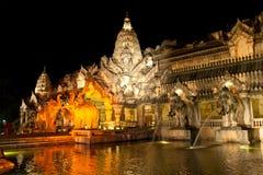 Main palace in Phuket FantaSea park stock photography