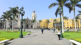 Main park gardens in Lima Peru