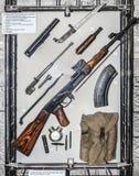 Main parts and mechanisms 7.62 mm Kalashnikov machine Royalty Free Stock Photos
