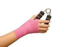 'main patiente de s avec l'exercice de poignée de main Photo stock