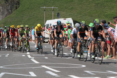 The main peloton of leaders in Tour de France Stock Images