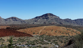 main plateau in the Teide national park Stock Image