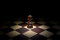 The main player. This symbolical image (loneliness, defencelessness, danger Royalty Free Stock Photos