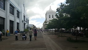 The Main Plaza of the colonial city of Leon, Nicaragua stock video footage
