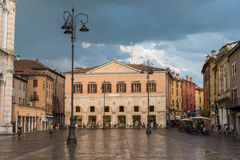 Main plaza in the downtown of Ferrara Royalty Free Stock Photography