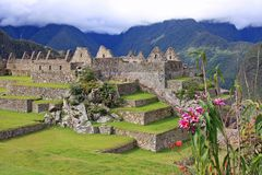 Main Plaza in Machu Picchu Royalty Free Stock Photos