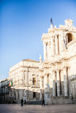 Main Plaza in Ortigia Royalty Free Stock Photography