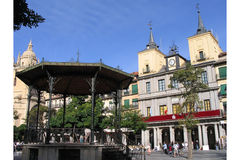 Main Plaza, Segovia, Spain. A view from the main plaza in Segovia, Spain Royalty Free Stock Photo