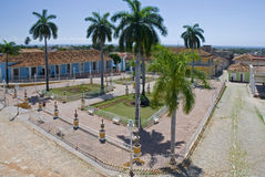 Main plaza in Trinidad city Stock Images