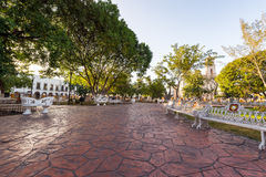 Main Plaza in Valladolid, Mexico Royalty Free Stock Photo