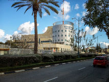 Main police office of Rishon Le Zion. Rishon Le Zion, Israel - February 21, 2015: Five-story Rishon Le Zion police head office building. It is located 106 Stock Image