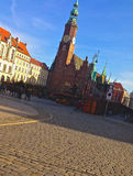 Wroclaw Clock Tower Stock Photos