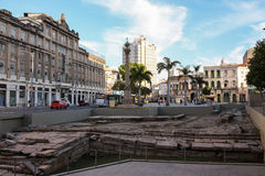 Main port of landing slaves of the Americas candidate for Cultur. Rio de Janeiro, Brazil: The main entry point for slaves in the Americas is a candidate for Stock Image