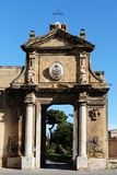 Main portal, baroque style, magione church Stock Photos