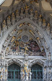 Main portal of Bern cathedral Royalty Free Stock Photos