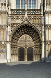 Main portal at the cathedral of Our Lady in Antwerp Royalty Free Stock Photo
